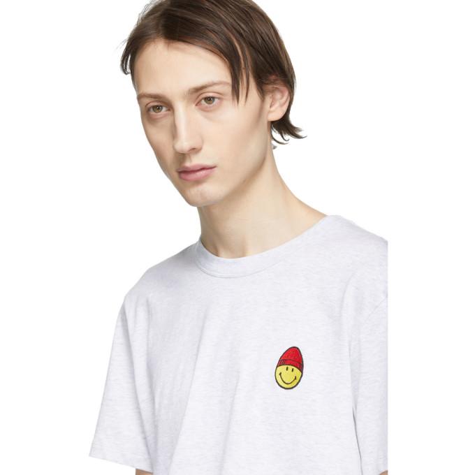 shirt Ami Gris MattiussiT Smiley À Édition Sku Écusson 191482m213011 Alexandre ukPXiZ