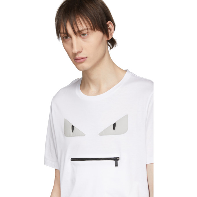 FendiT Pocket shirt Bugs Bag Sku 191693m213060 Blanc l1KJcTF