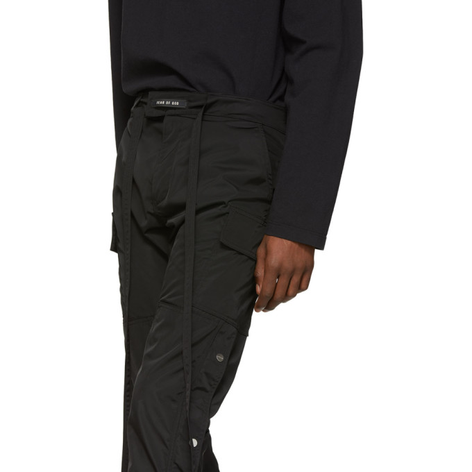 Sku Cargo 191782m188002 Nylon Noir Of Fear GodPantalon En WEY2HD9I