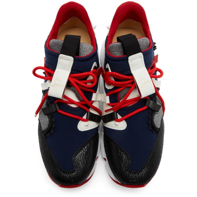 Flat Marine Red Sku 191813m237025 Bleu runner Christian Noires Et LouboutinBaskets Aj4q3RL5
