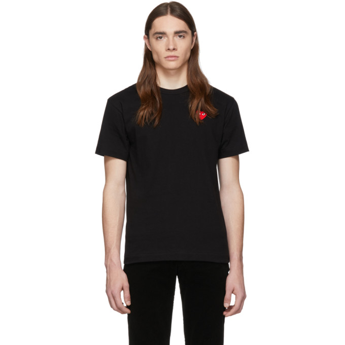 Patch Heart PlayT Et Sku Noir Comme shirt 192246m213005 Des Garçons Rouge yvN0Om8nw