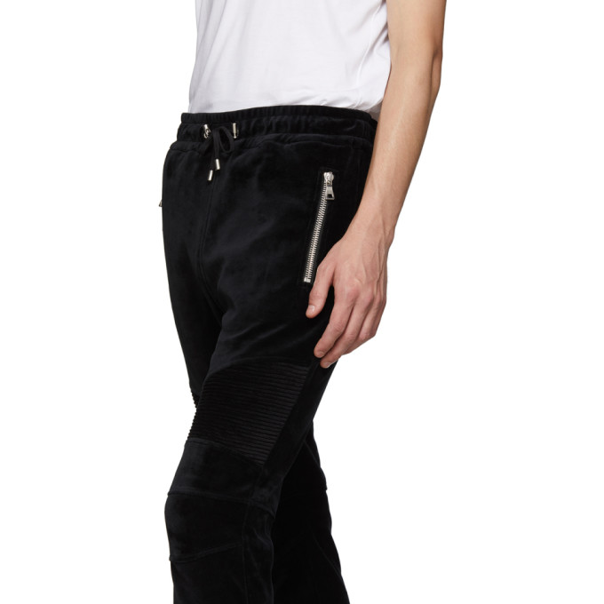 Noir BalmainPantalon 192251m190003 Sku Ribbed Survêtement De En Velours 54LRcjq3AS