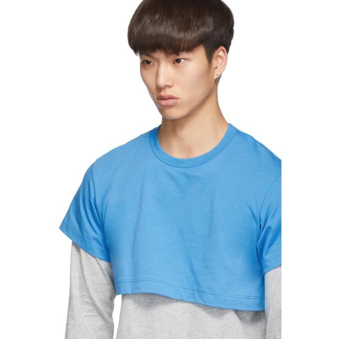 ShirtT shirt Longues Sku Gris Manches Des 192270m213001 tone À Et Bleu Garçons 2 Comme USpqzMV