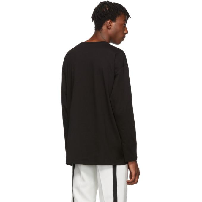 En Manches shirt À 192287m213016 Raf Longues Coton Sku Noir SimonsT 80XOknPw