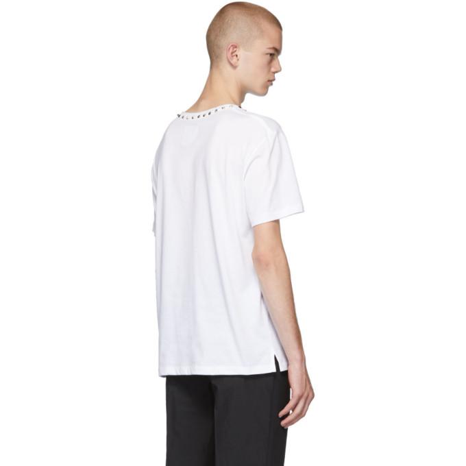 shirt Blanc ValentinoT Neck Sku Studs 192476m213012 f7vIb6gymY