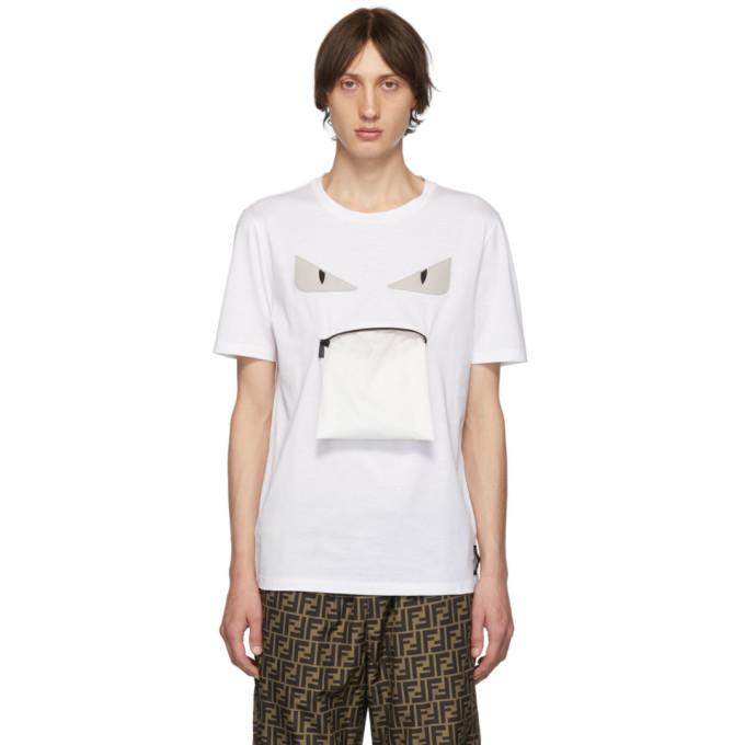 Bag Bugs FendiT Sku Blanc 192693m213012 shirt Zip Mouth TPZikXOu
